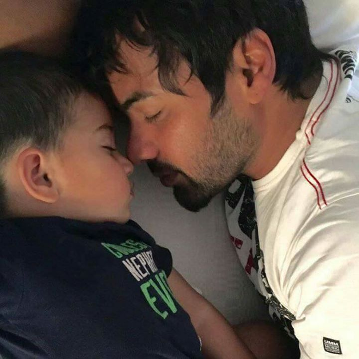 Who rocks with his Son? Ahbi Raghav