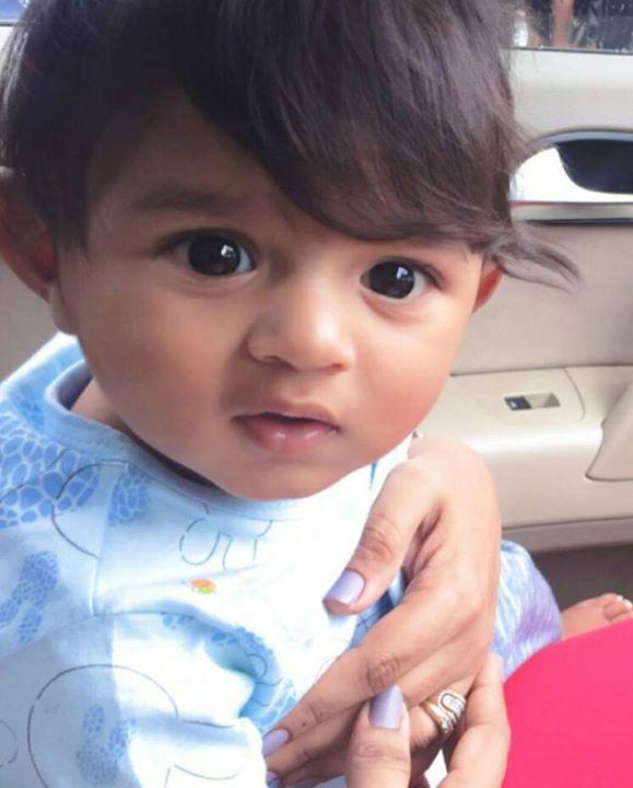 Chocolate eyed boy — Krishi's Son is So Cute