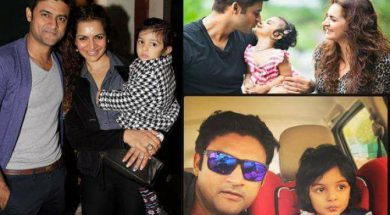 Manav Gohil Alias Sanjay With Wife & Daughter