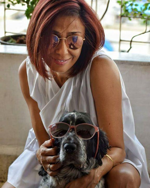 Dd Patel Twinning With Her Dog